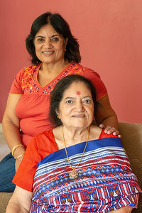 Kiran Mausji  and Sharda Amma during Kiran Mausji & Satish Mausaji's visit to Powai, Mumbai in October 2018.