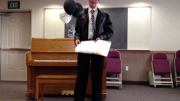 Spencer's piano recital