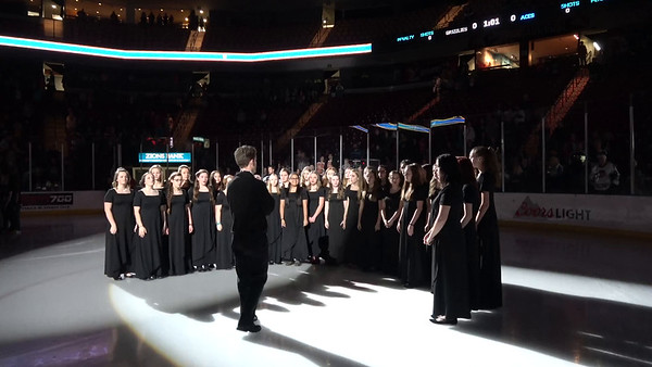 Advanced Womens Choir at Grizzlies