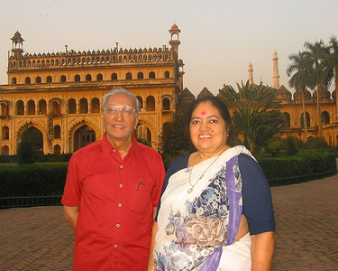 Papa (S K Nanda) and Amma (Sharda Nanda) at Lucknow, India.