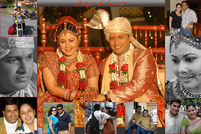Collage for Priya and Sumit Dargad before they left for the USA in 2009.