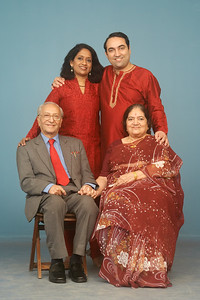 Image_2242_12x18 Seated (From left to right): Shashi (Papa) & Sharda (Amma) Nanda Standing (From left to right): Anu & Suchit Nanda
