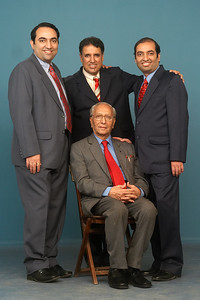 Seated: Shashi Kumar Nanda(Papa) Standing (From right to left): Anish, Manu & Suchit
