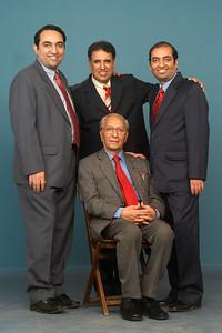 Seated: Shashi Kumar Nanda(Papa) Standing (From right to left): Anish, Manu & Suchit