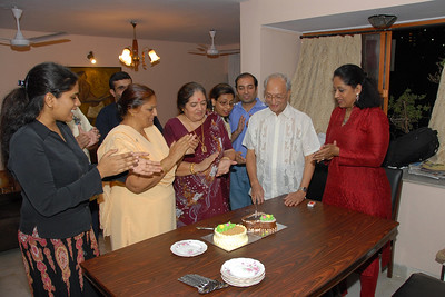 """Everyone clapping and singing """"Happy B'day to you..."""""""