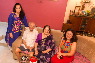 Papa (S K Nanda)'s B'day celebration at Eden-4 home on 5th May, 2017