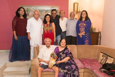 Family gathering at Papa (S K Nanda)'s B'day celebration at Eden-4 home on 5th May, 2017