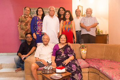 Family gathering at Papa (S K Nanda)'s B'day celebration at Eden-4 home on 5th May, 2017