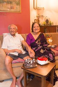 Papa (S K Nanda)'s B'day celebration at Eden-4 home on 5th May, 2017