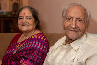 Amma and Papa at Papa's Birthday Celebrations at Eden-4, Powa, Mumbai on 5th May, 2018.