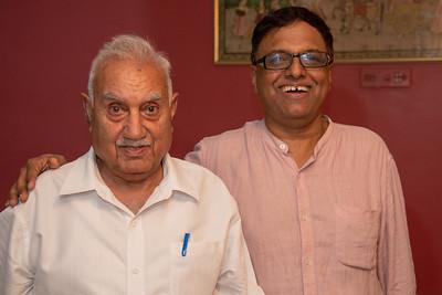Umesh & Shashi Mama at Papa's Birthday Celebrations at Eden-4, Powa, Mumbai on 5th May, 2018.