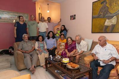 Cake cutting at Papa's Birthday Celebrations at Eden-4, Powa, Mumbai on 5th May, 2018.