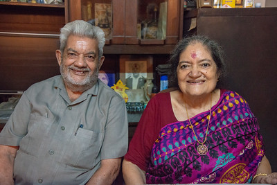 Vijay Mama & Amma at Papa's Birthday Celebrations at Eden-4, Powa, Mumbai on 5th May, 2018.