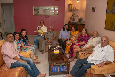 Extended family at Papa's Birthday Celebrations at Eden-4, Powa, Mumbai on 5th May, 2018.