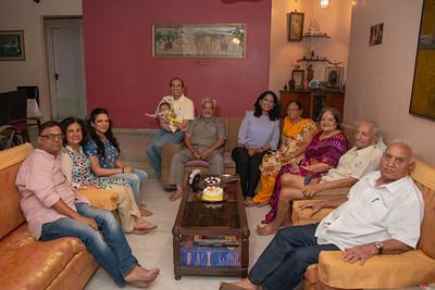 At Papa's Birthday Celebrations the extended family at at Eden-4, Powa, Mumbai on 5th May, 2018.
