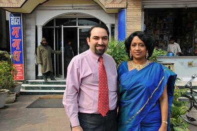 Suchit & Anu (Arundhathi) at the wedding of Piyush. Nimisha wed Piyush Seth in Patna on 1st Feb, 2008.