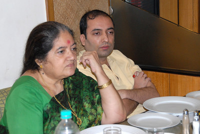 Amma and Anish in a serious discussion