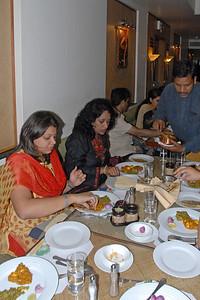 Everyone enjoying the nice dinner