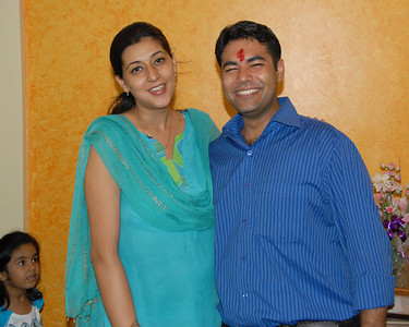 Diptee & Piyush. Rakhi Celebrations held at Priya & Piyush Seth's home in Romy Apartments, Marol, Mumbai on 28th Aug 2007.