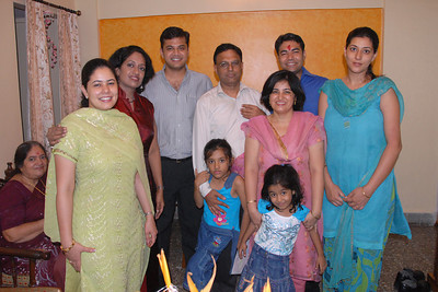 The group at Rakhi Celebrations held at Priya & Piyush Seth's home in Romy Apartments, Marol, Mumbai on 28th Aug 2007.
