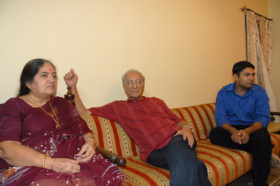 Papa & Amma with Piyush at Rakhi Celebrations held at Priya & Piyush Seth's home in Romy Apartments, Marol, Mumbai on 28th Aug 2007.