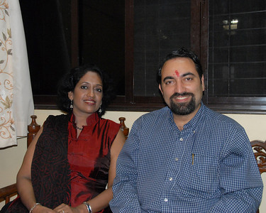 Anu (Arundhathi) & Suchit. Thanks Piyush for the picture. Rakhi Celebrations held at Priya & Piyush Seth's home in Romy Apartments, Marol, Mumbai on 28th Aug 2007.