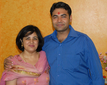Vandana & Piyush. Rakhi Celebrations held at Priya & Piyush Seth's home in Romy Apartments, Marol, Mumbai on 28th Aug 2007.