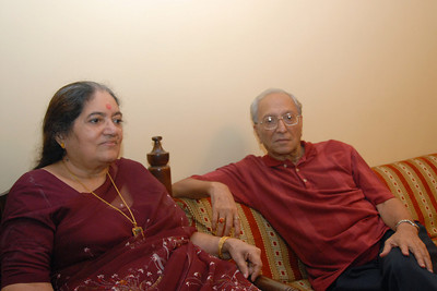 Papa & Amma at Rakhi Celebrations held at Priya & Piyush Seth's home in Romy Apartments, Marol, Mumbai on 28th Aug 2007.