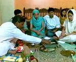 Hawan was held at Romy Apartments, Marol, Mumbai in memory of Gita Mami. Many family members attended the same.  Piyush (& Nimisha) and Priya (& Sumit) Seth were the key role players. 23112008 GitaMami Hawan2