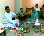 Hawan was held at Romy Apartments, Marol, Mumbai in memory of Gita Mami. Many family members attended the same.  Piyush (& Nimisha) and Priya (& Sumit) Seth were the key role players. 23112008 GitaMami Hawan4