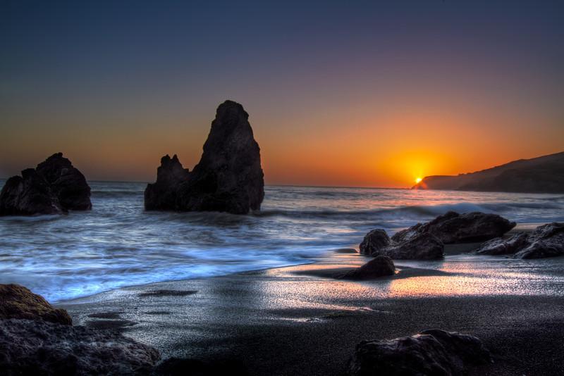 Sunset Rodeo Beach, California