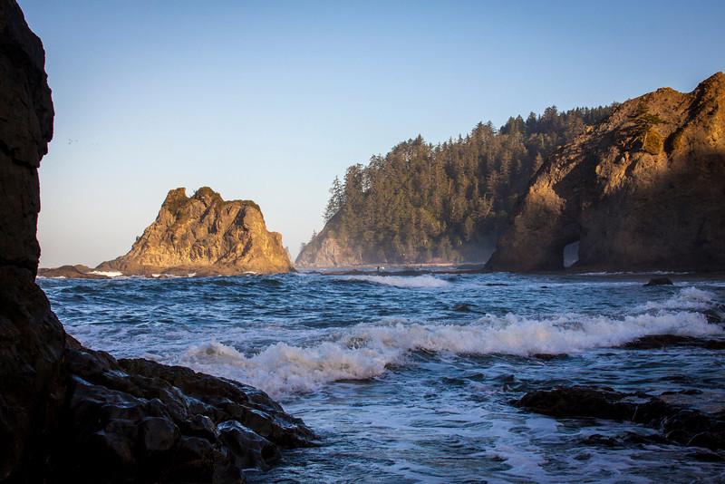 Dawn breaking along the Washington coast near La Push