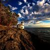 Lighthouse on San Juan Island, Washington Overlooking the Strait of Juan de Fuca towards Canada