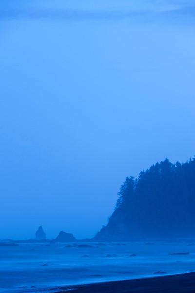 Pre-dawn hours along the Washington coast near La Push.