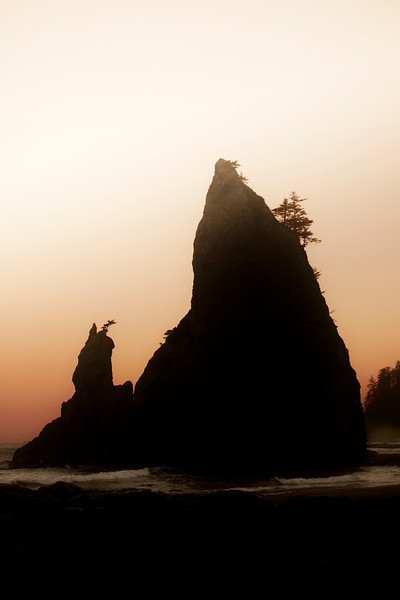 Dawn breaking along the Washington coast near La Push