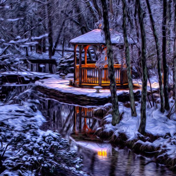Gazebo in the woods, Centennial Lakes - Medford NJ