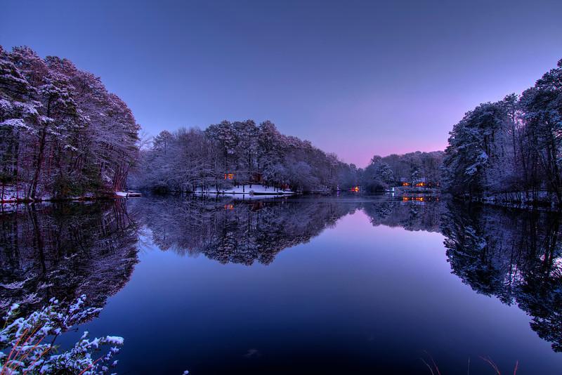 Wintry Night, Centennial Lakes - Medford NJ