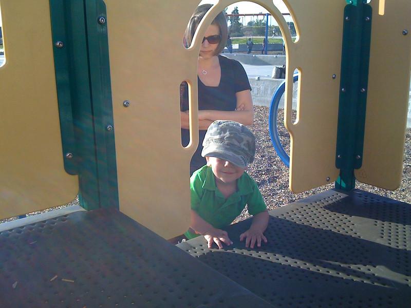 Playing at Breen Park