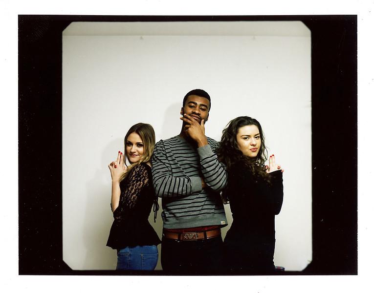 Ellie, Dale, Camilla polaroid