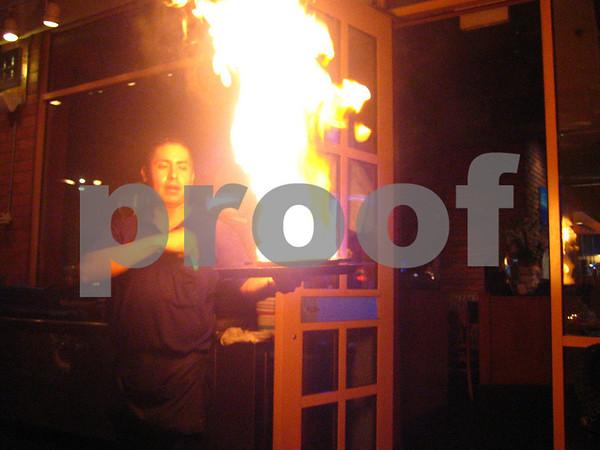 Flaming Cheese - My Big Fat Greek Restaurant, Tempe AZ