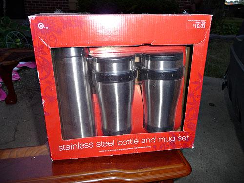 Bottle and mug set, NIB.  $5