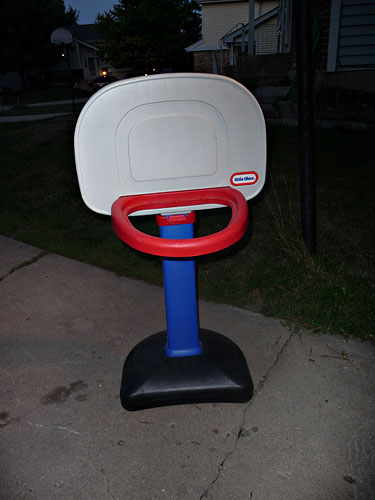 Little Tikes adjustable height basketball hoop.  Missing net (will search for it).  $15