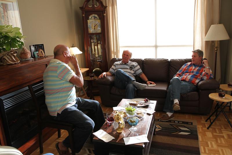 April 8/12 - Easter at Rick's place: Wayne Law, Michael (David's brother) and David