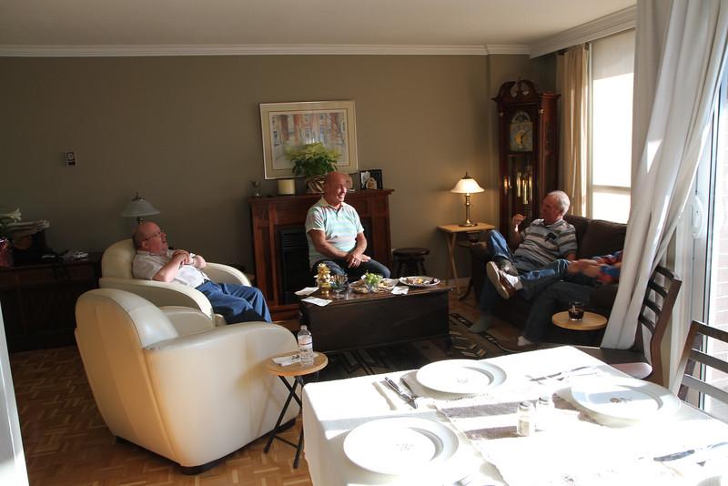 April 8/12 - Easter at Rick's place: Vince, Wayne, Michael & David