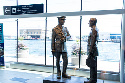 Statue Of Billy Bishop & William Barker