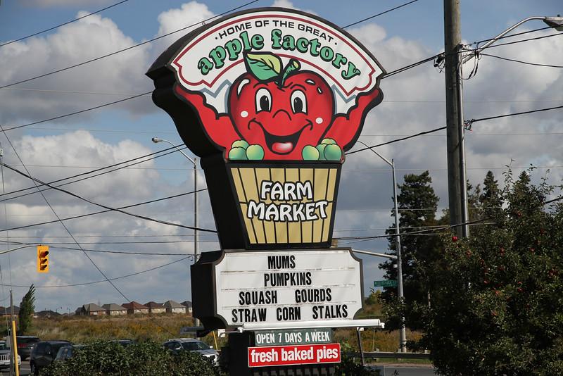 Sept. 30/12 - The Apple Factory Farm Market, 10024 Mississauga Road, Brampton