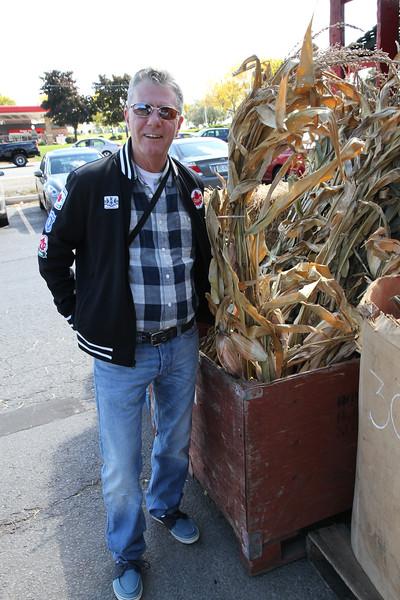 Sept. 30/12 - David outside The Apple Factory Farm Market, 10024 Mississauga Road, Brampton
