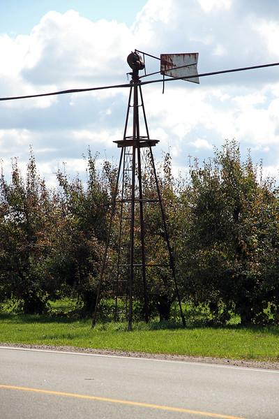 Sept. 30/12 - Windmill across the street from Al Ferri & Sons, 8605 Heritage Road, Brampton
