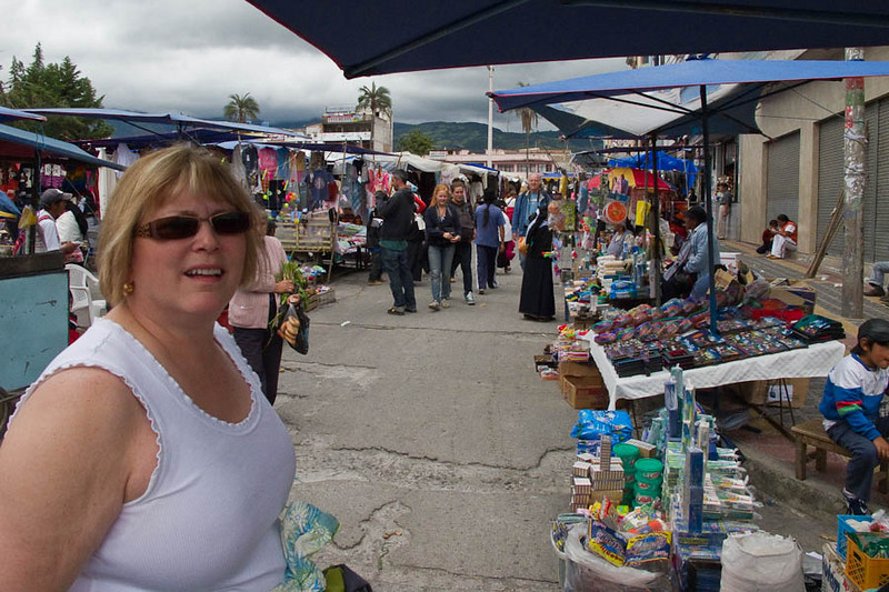 The outdoor market.