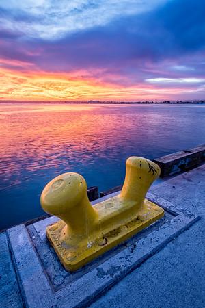 Dock Anchor at Sunset